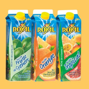 Les jus de fruits Royal 1L